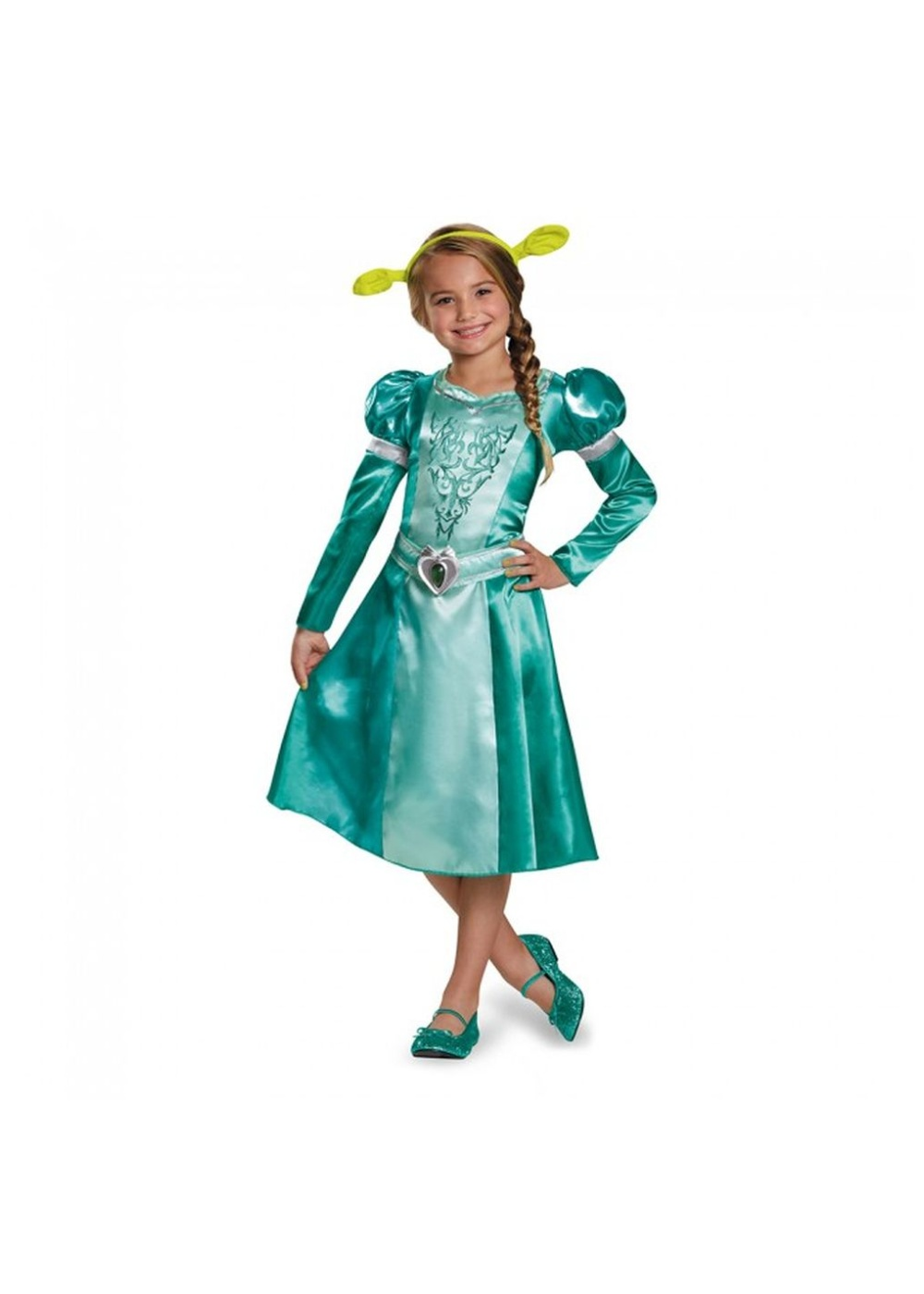 Dreamworks Princess Fiona Classic Girls Dress Costume - Princess Costumes  sc 1 st  Halloween Costumes : shrek and fiona halloween costumes  - Germanpascual.Com