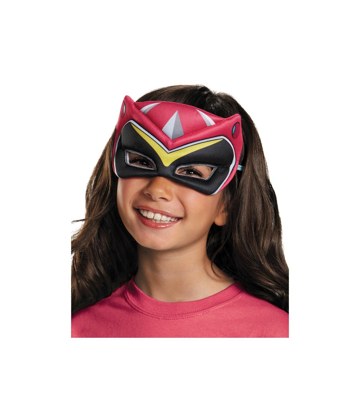 Pink Power Ranger Dino Charge Piger Puffy Mask - Masker-3340
