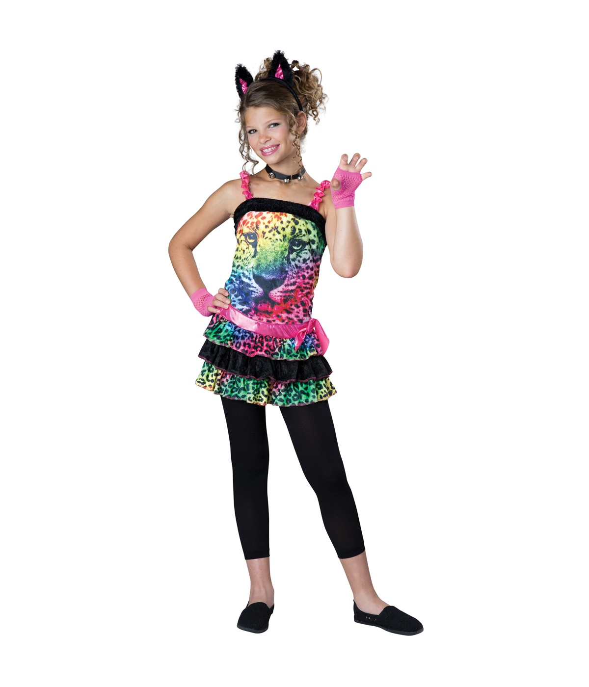 sc 1 st  Wonder Costumes & Electric Jungle Rainbow Leopard Girls Costume