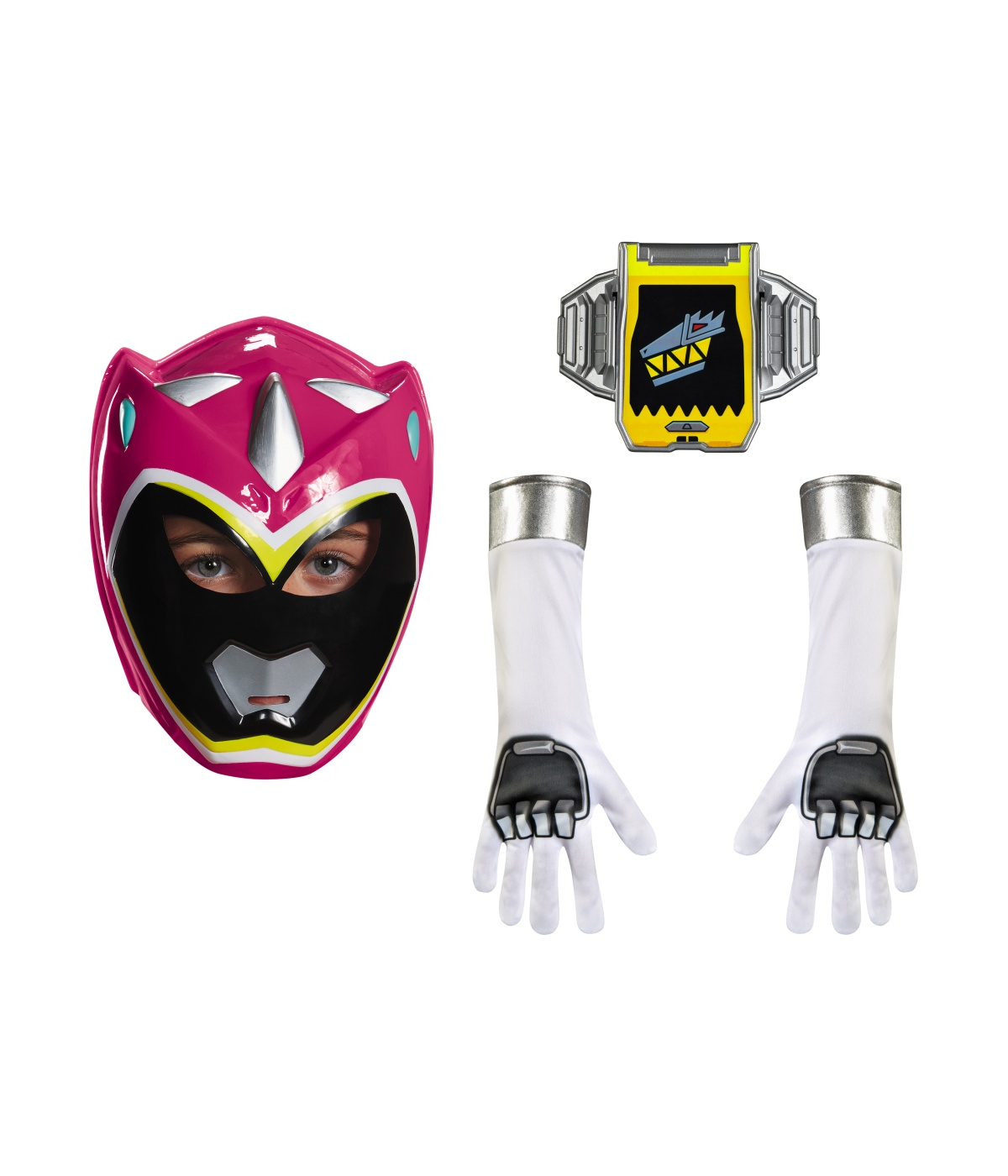 sc 1 st  Wonder Costumes & Pink Power Ranger Dino Charge Girls Accessory Kit - TV Show Costumes