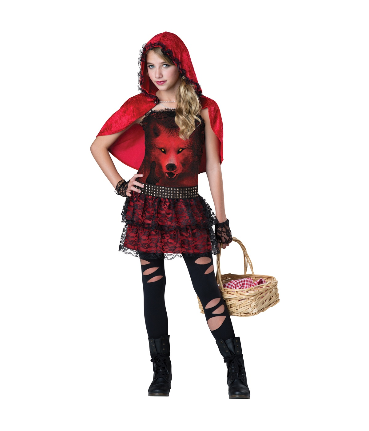 Little Red Riding Punk Girls Costume - New Arrivals-2900