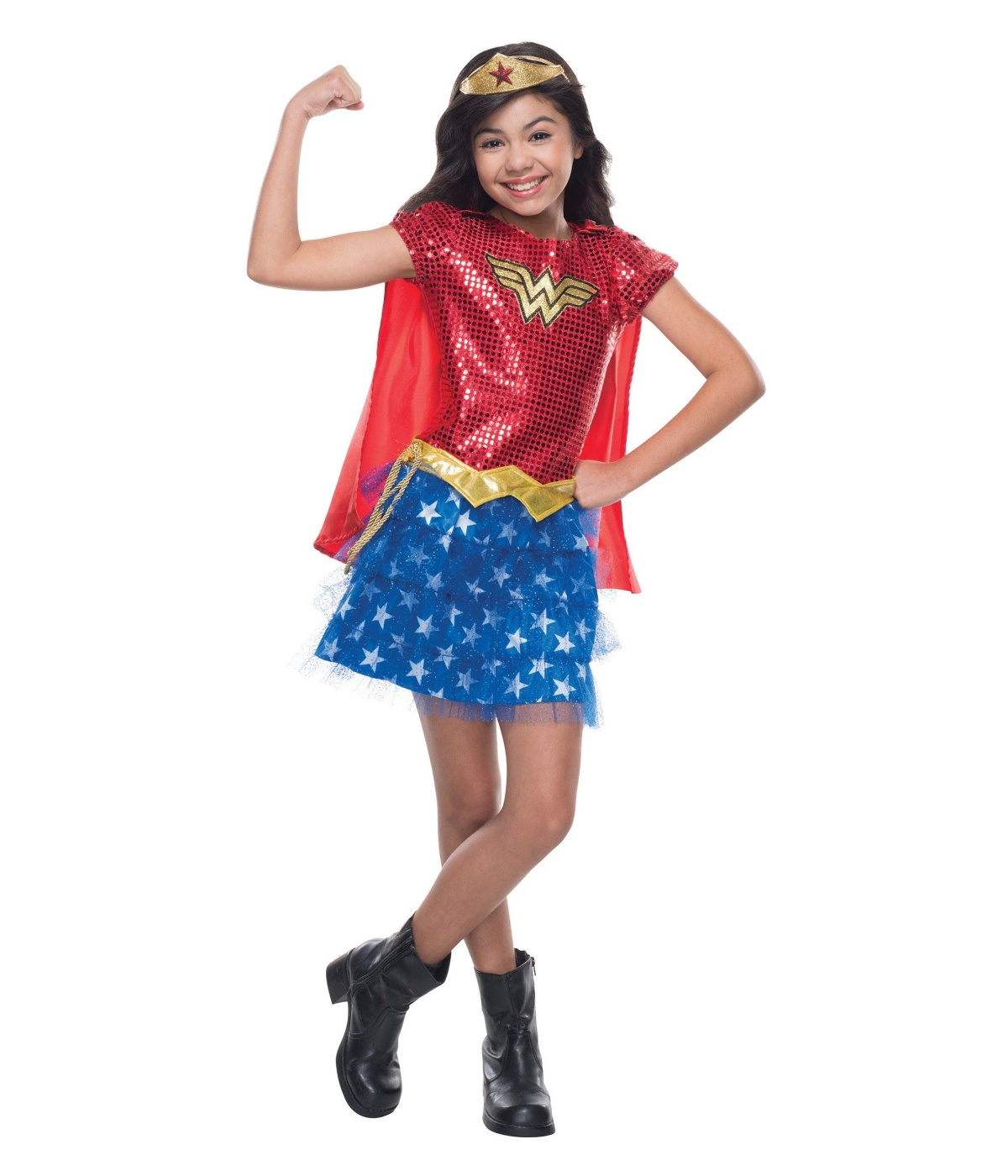 sc 1 st  Wonder Costumes & Wonder Woman Sequin Girls Costume - Superhero Costume