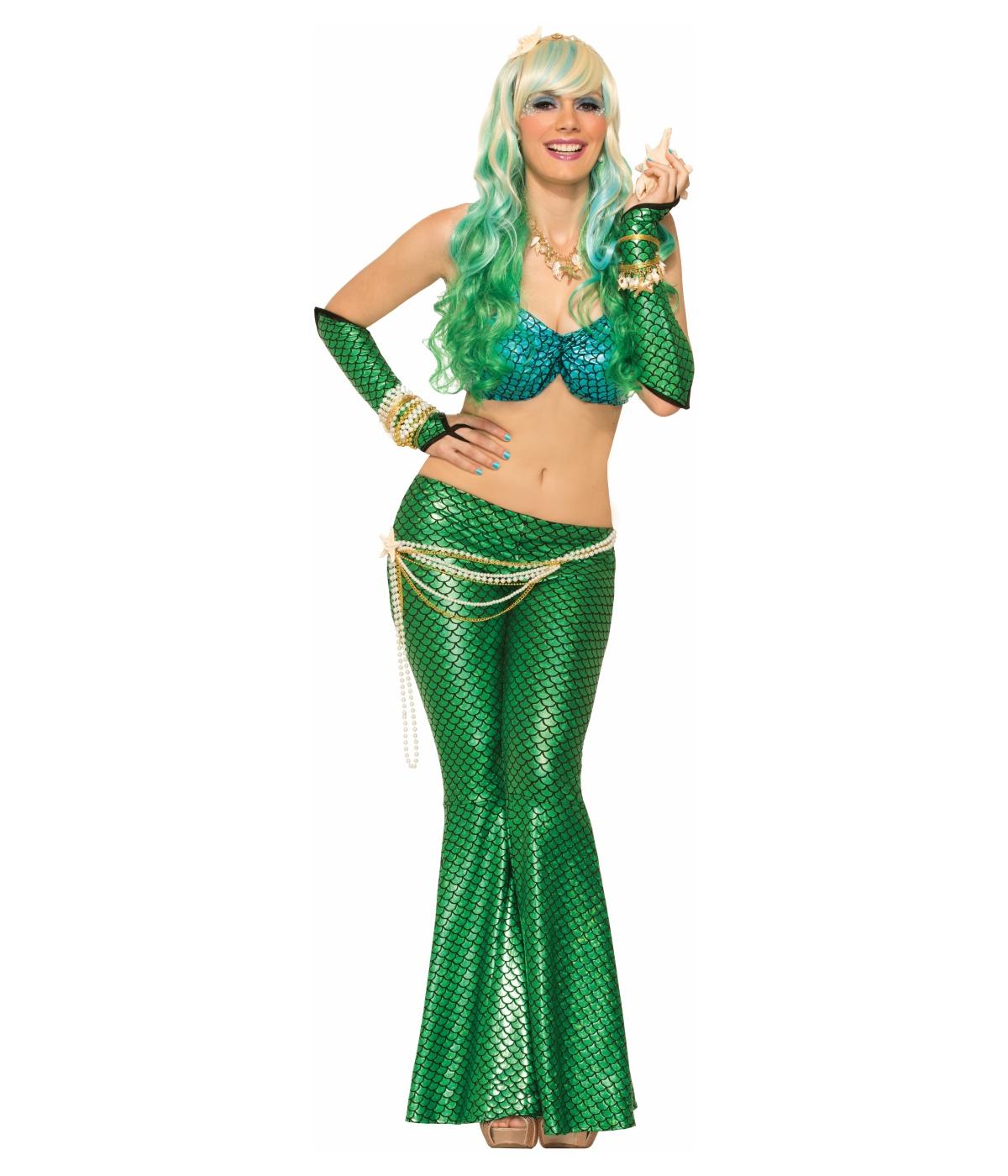 sc 1 st  Halloween Costumes & Green Mermaid Leggings - Costume Accessories