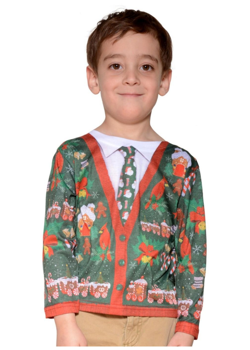 Kid-s Ugly Christmas Cardigan Sweater - Christmas Costumes