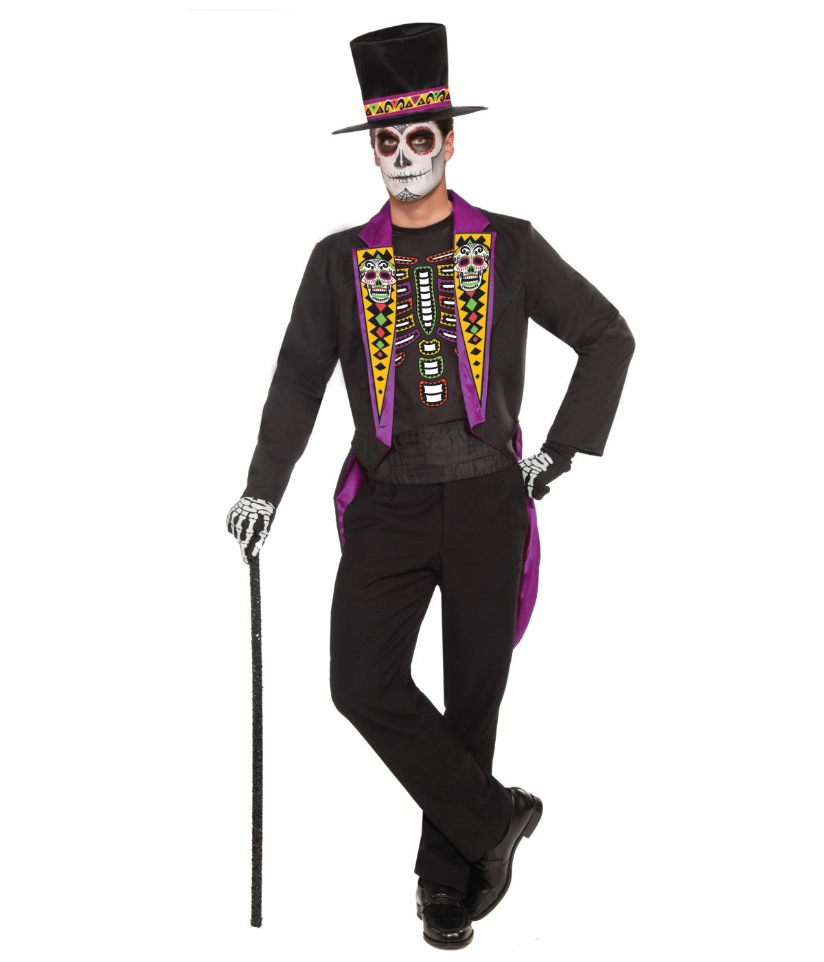 day of the dead fine gent mens costume - scary costumes