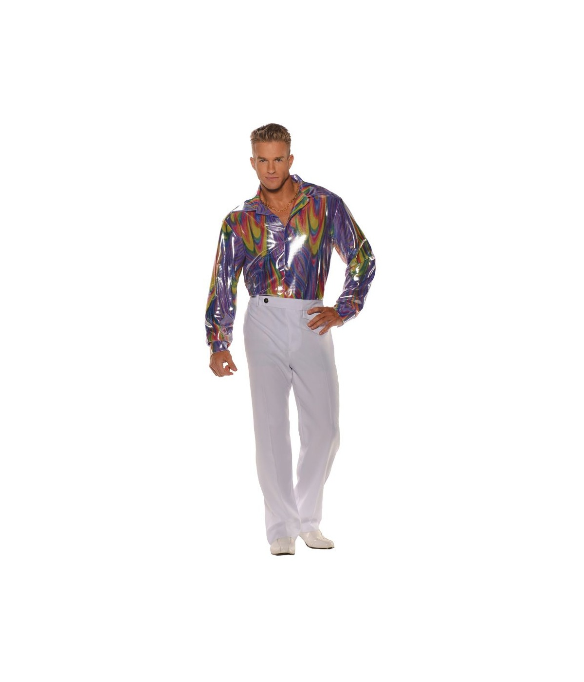 Mens Disco King Shirt Costume