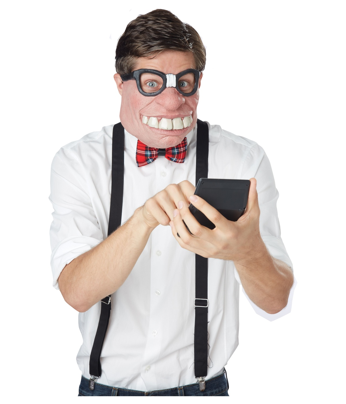 Geeked Out Nerd Costume Mens Mask - Funny Costumes