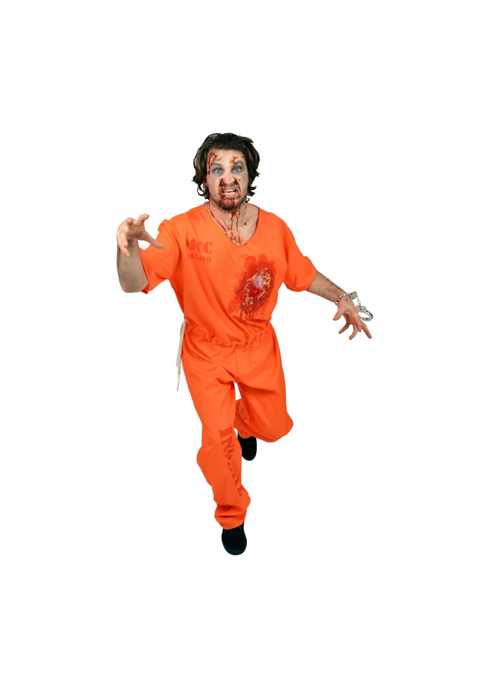 Beating Heart Mens Prisoner Costume  sc 1 st  Wonder Costumes & Beating Heart Mens Prisoner Costume - Funny Costumes