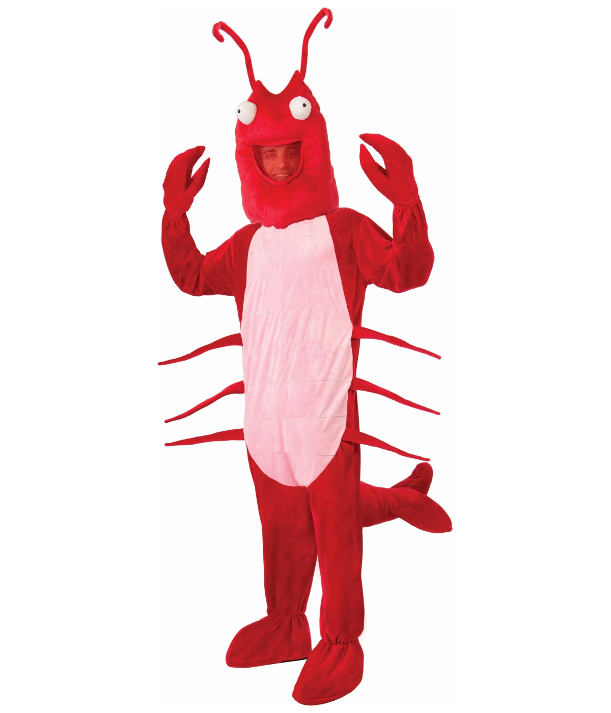 Mens Red Lobster Mascot Costume