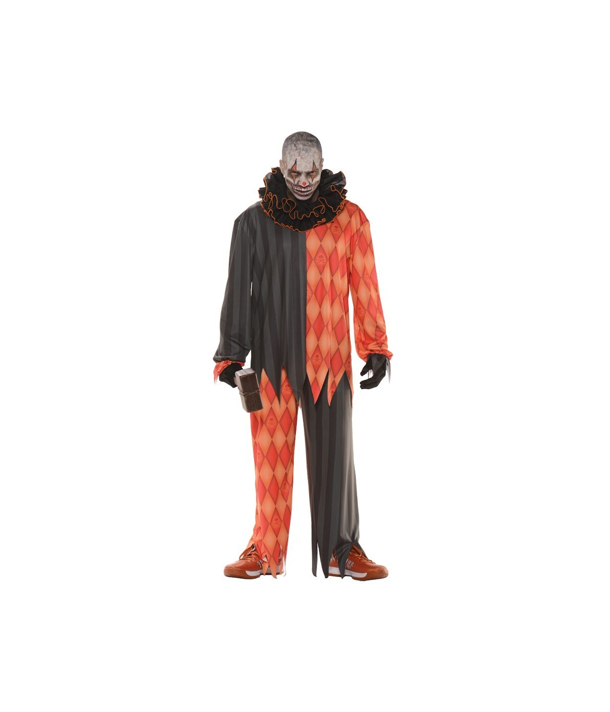 Sinister Clown Teen Mens Plus Size Costume  sc 1 st  Halloween Costumes & Sinister Clown Teen Mens Costume - Clown Costumes