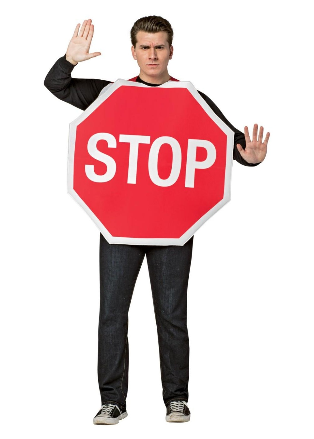 3326f256 Stop Sign Mens Costume - Funny Costumes