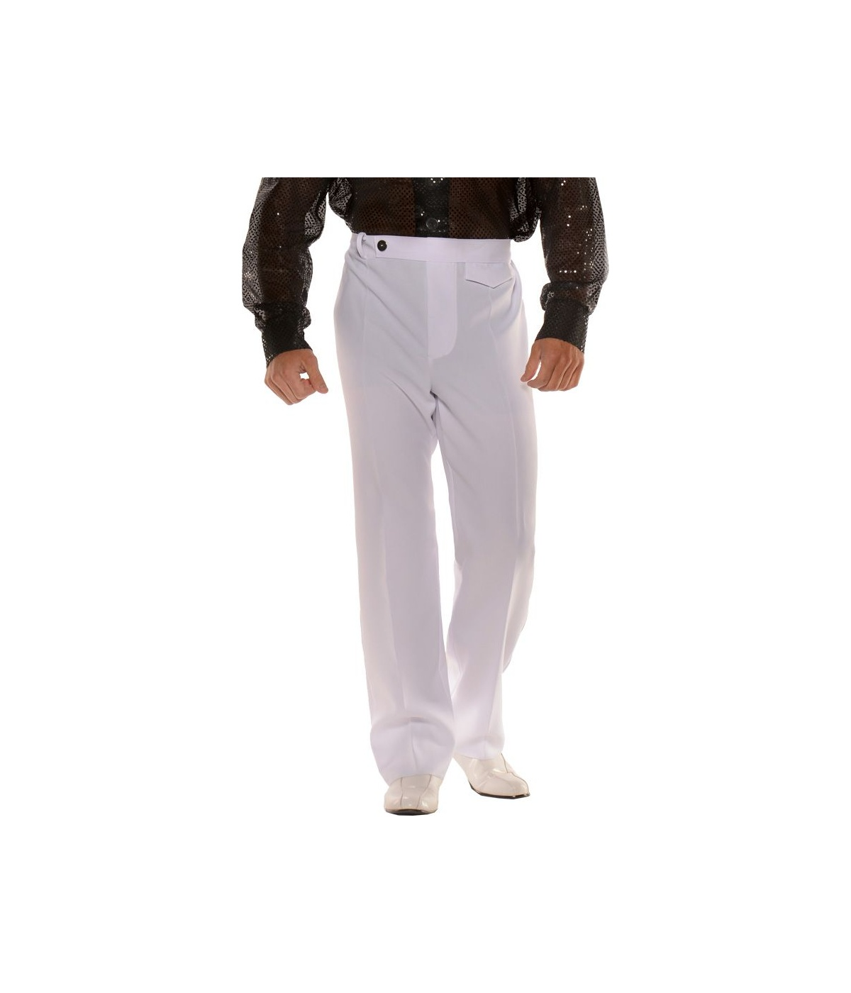 Mens White Disco Pants Costume