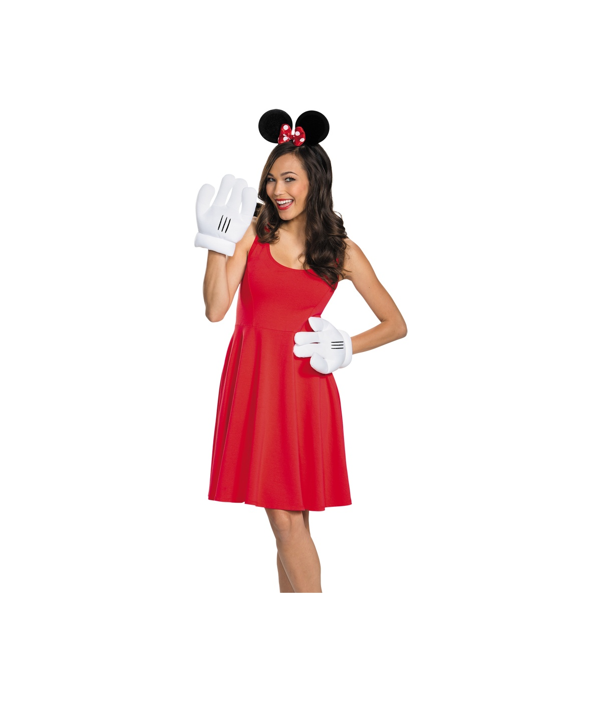 Minnie Mouse Ears and Gloves Women Set - Costume Accessories