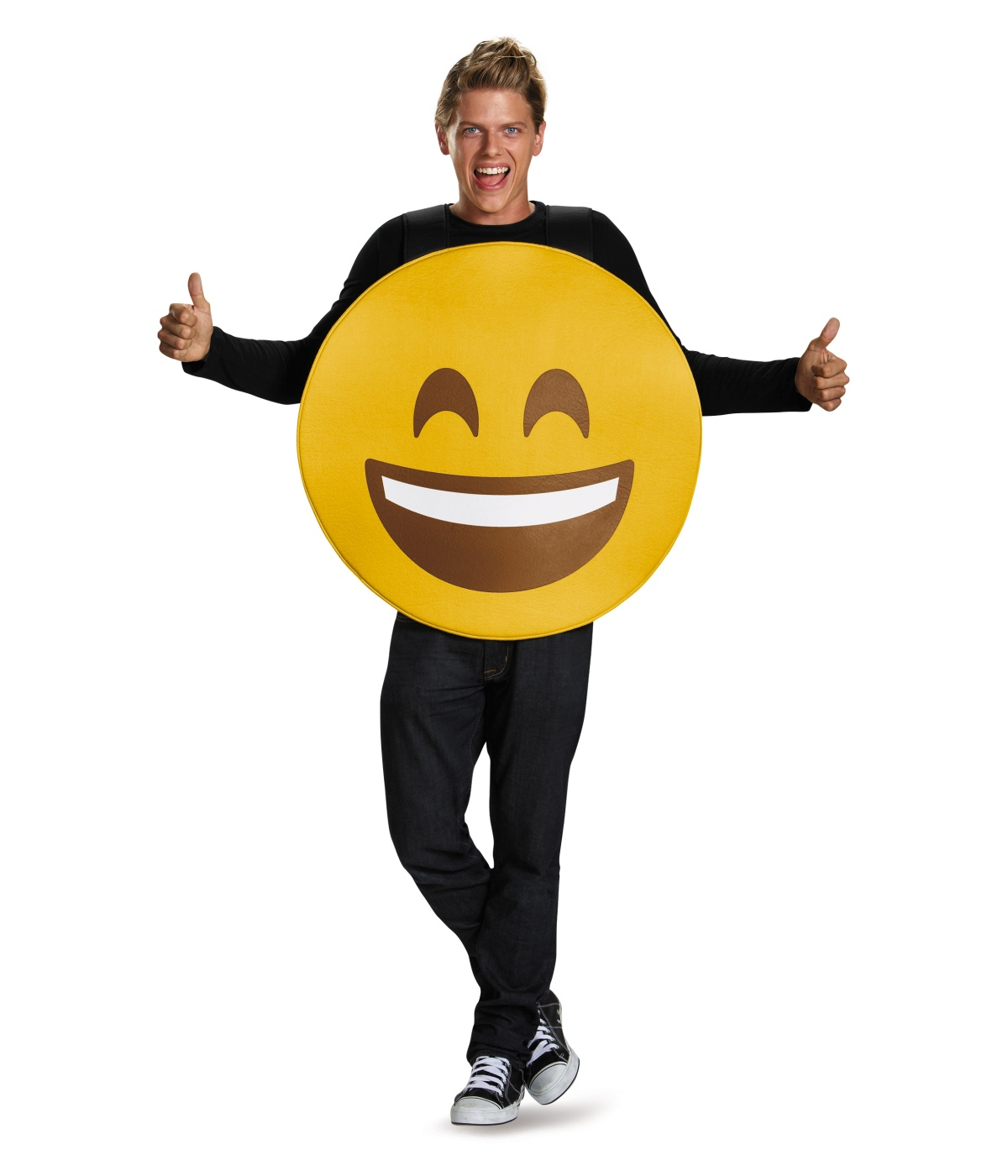 Open Mouth Smile Emoticon Costume