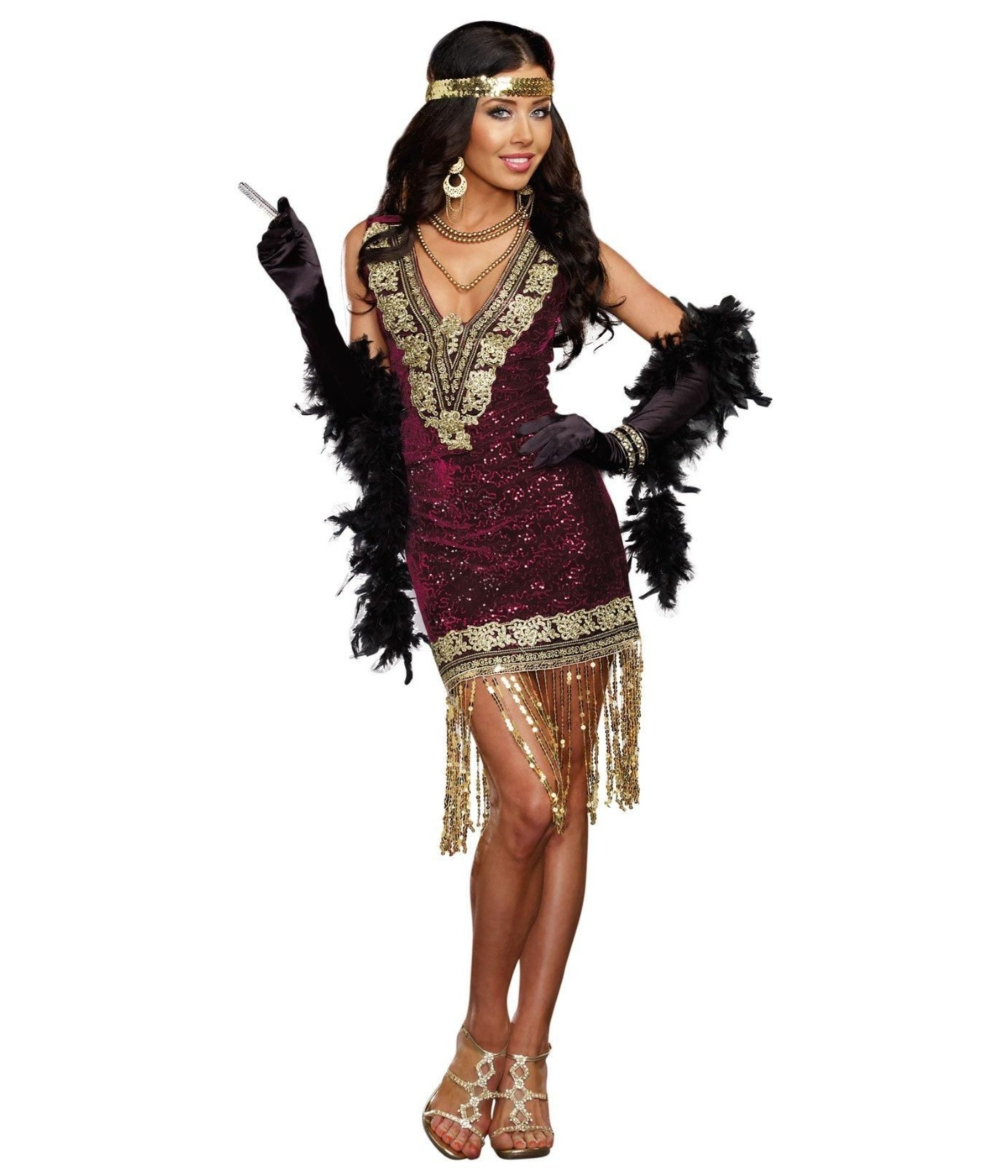 Sophisticated Flapper Lady Costume 1920s Costumes