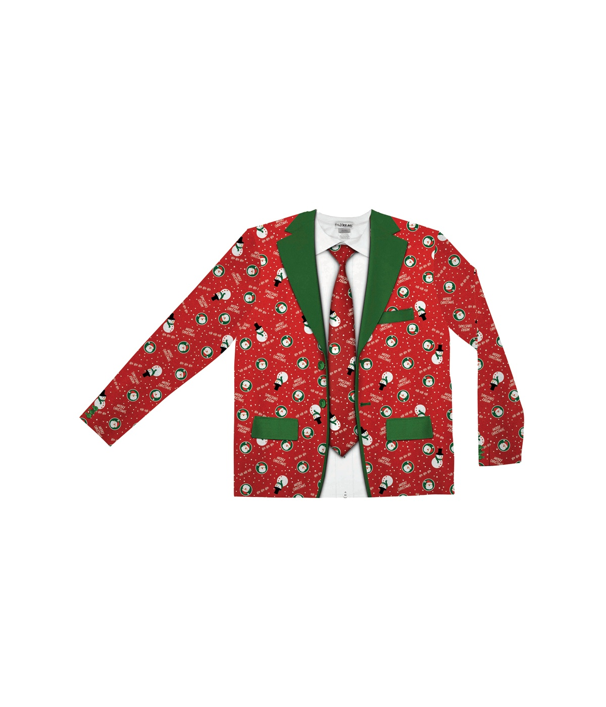 Christmas Suit.Ugly Christmas Suit Shirt And Tie Set Clown Costumes