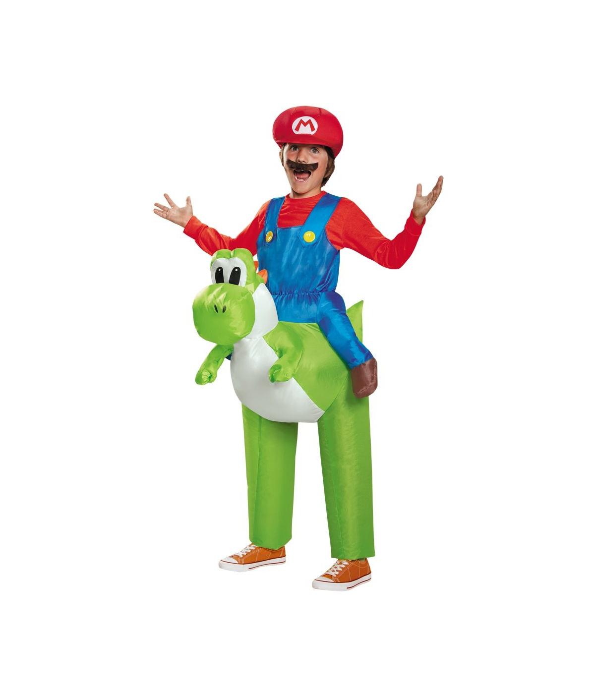Super Mario Bros Mario Riding Yoshi Boys Costume