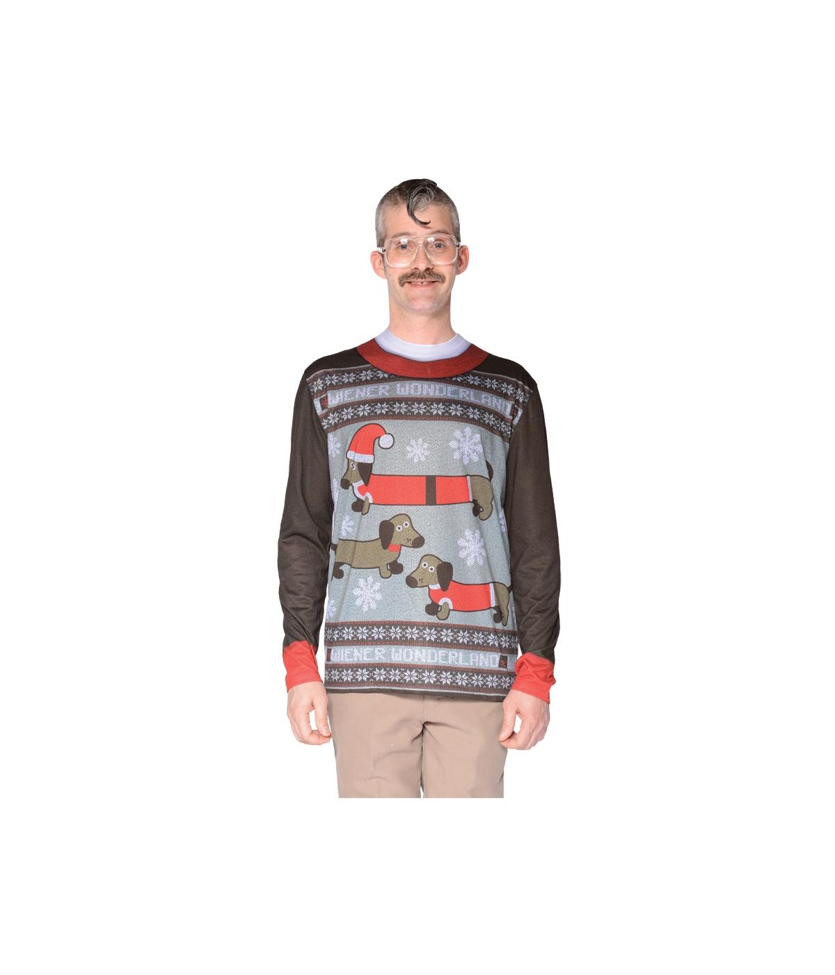 651aa7e0725 Ugly Christmas Wiener Dog Wonderland Sweater Shirt - Christmas ...