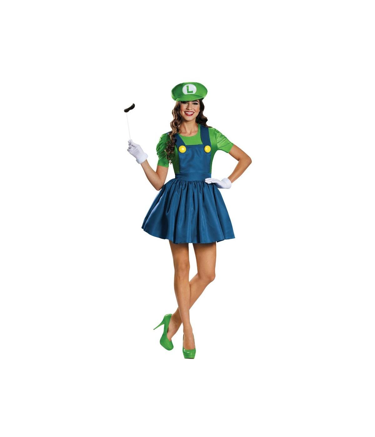 sc 1 st  Wonder Costumes & Super Mario Bros Sassy Luigi Womens Costume - Video Game Costumes