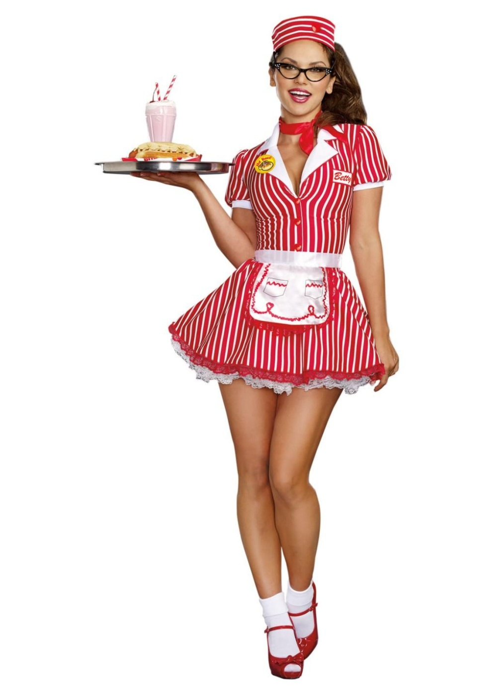 cd8713ecb948 Diner Sweetheart Womens Costume - 1950s Costumes