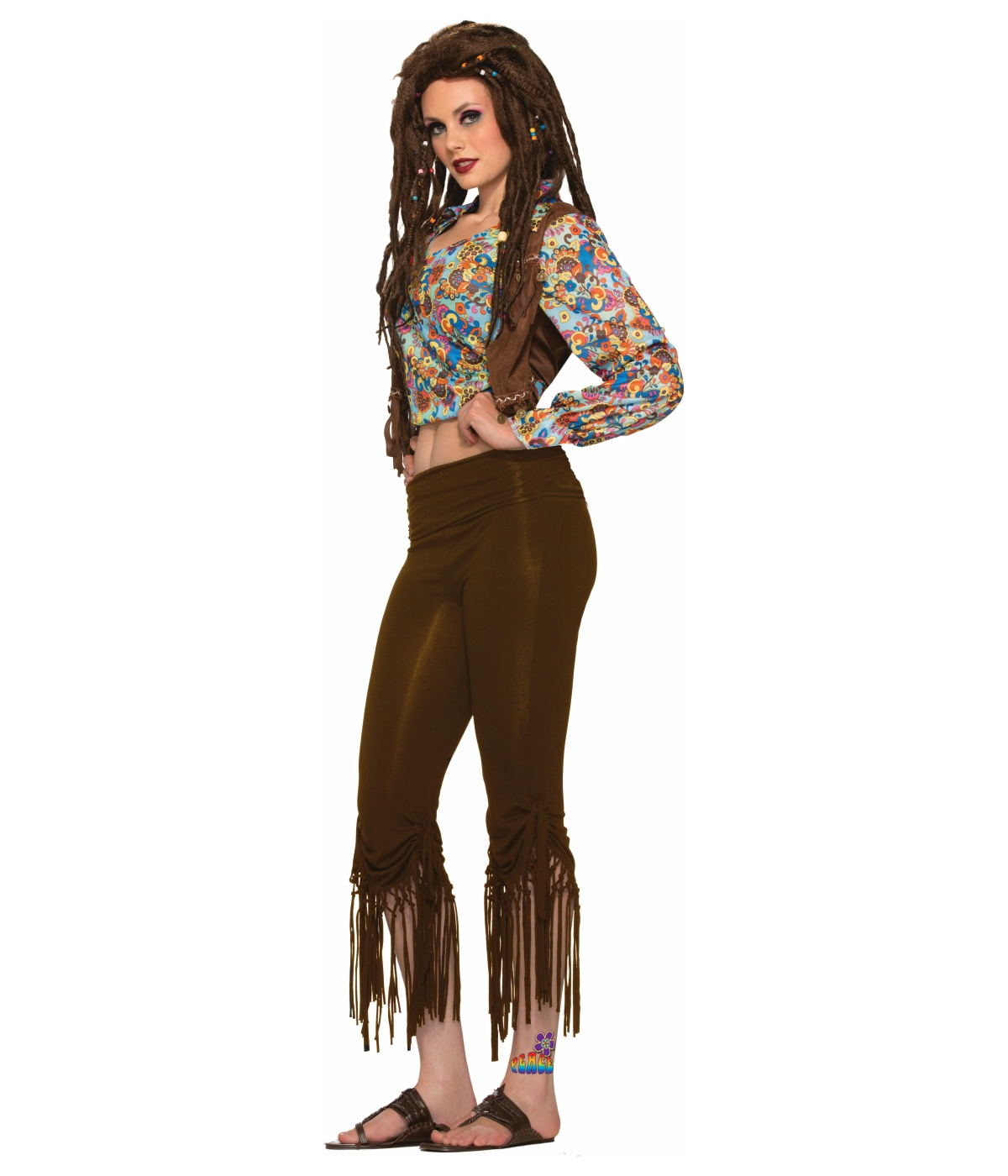 bb42203f7aa Fringed Hippie Womens Pants - Hippie costumes