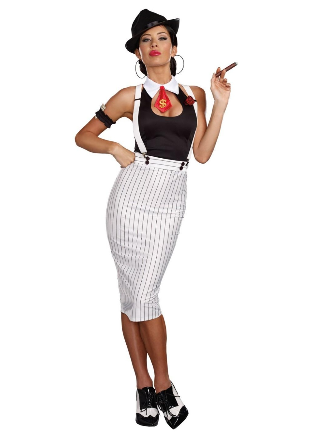 Dirty Deeds Gangster Queen Womens Costume - Gangster Costumes-2872