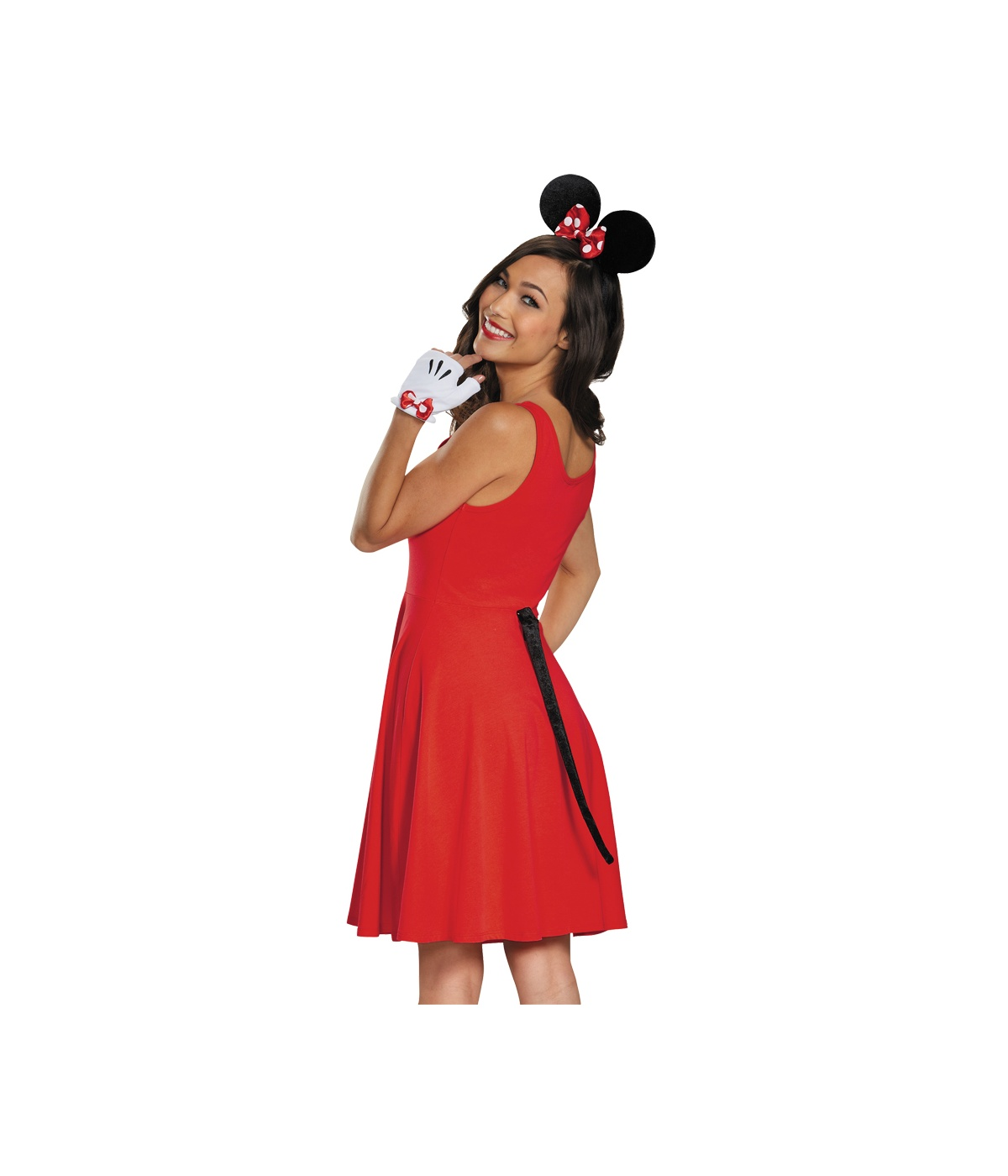 Minnie Mouse Gloves Ears and Tail Women Set - Costume Accessories