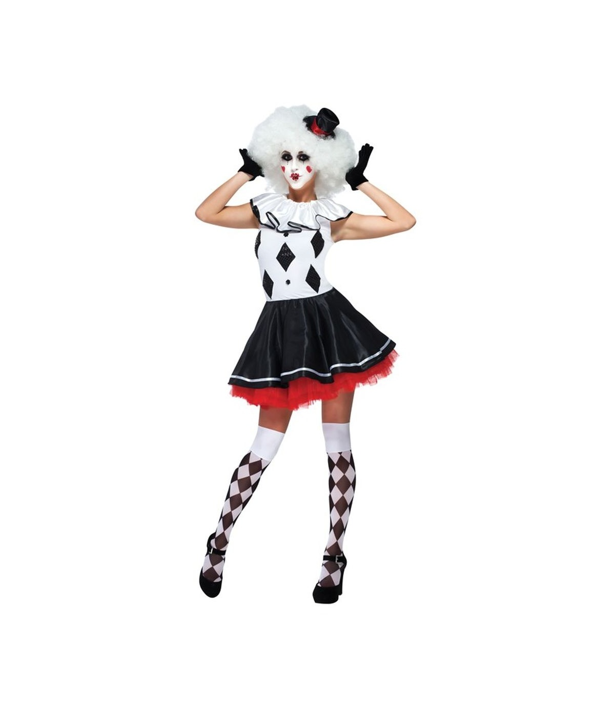 harlequin pantomime clown womens costume clown costumes. Black Bedroom Furniture Sets. Home Design Ideas