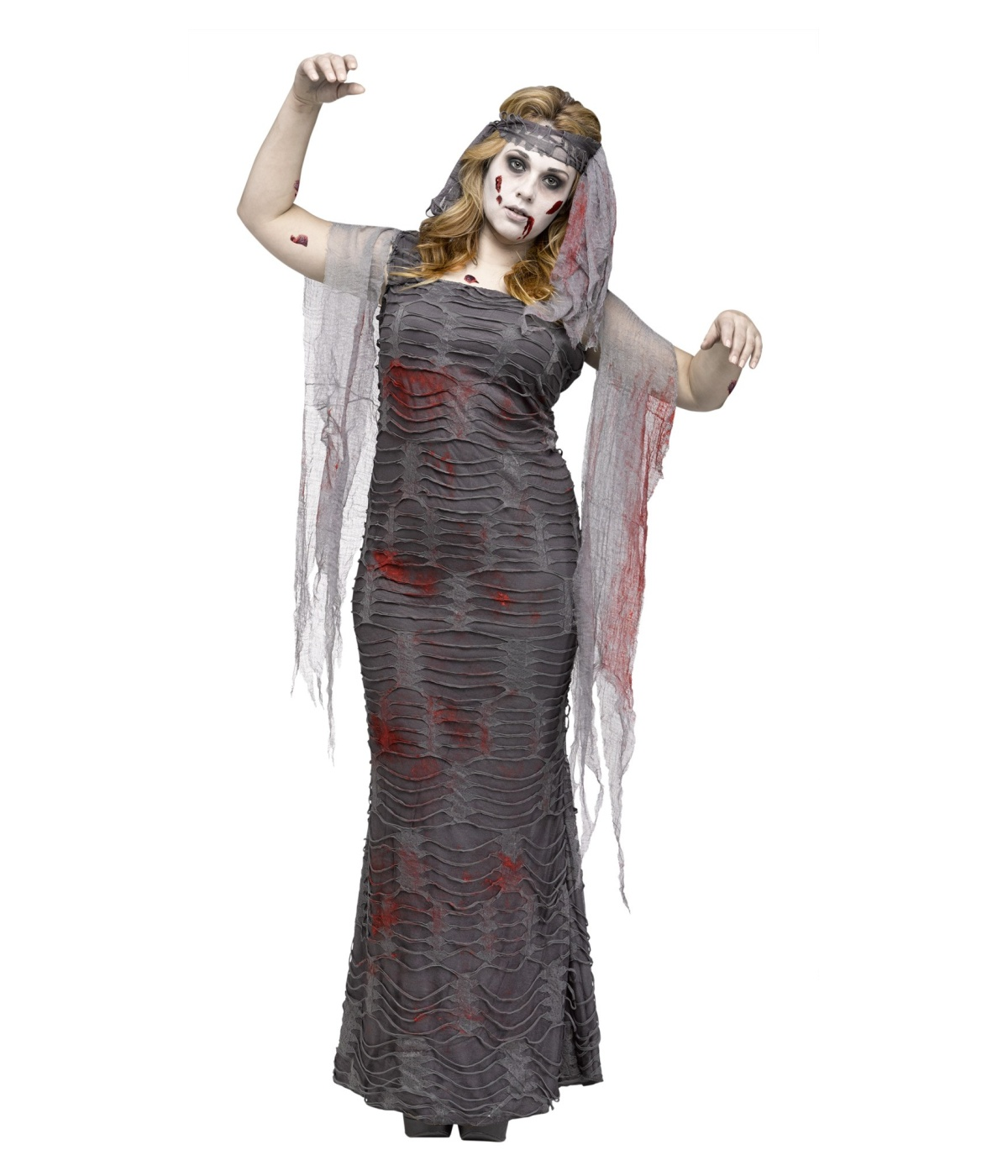 Ghastly Zombie Mummy Womens Plus Costume Scary Costumes