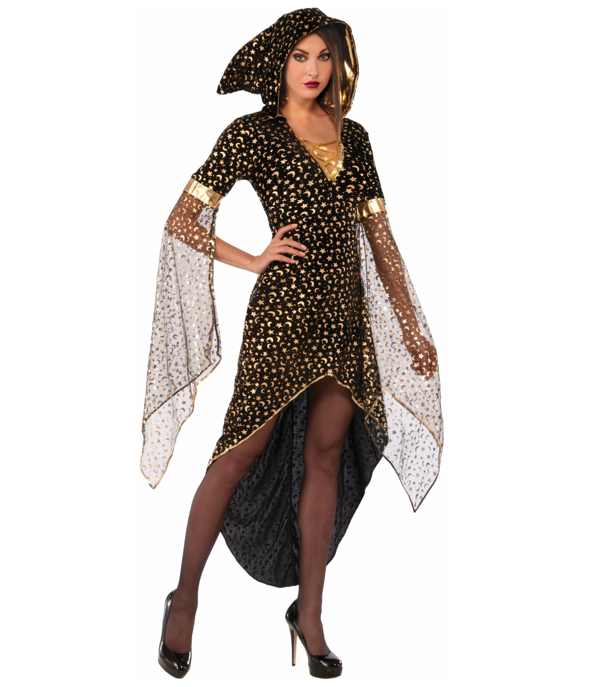 sc 1 st  Wonder Costumes & Night Sky Sorceress Womens Costume - Witch Costumes