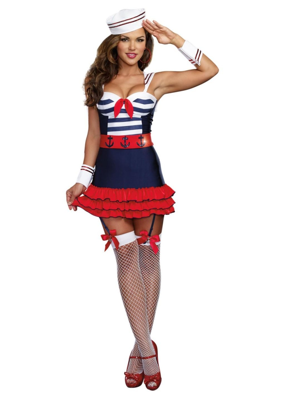 Pinup Sailor Sweetheart Women Costume - Professional Costumes