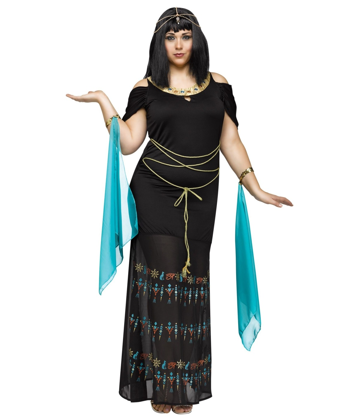 b67a067dc82a9 Egyptian Hieroglyph Queen Womens Plus size Costume - Egyptian Costumes