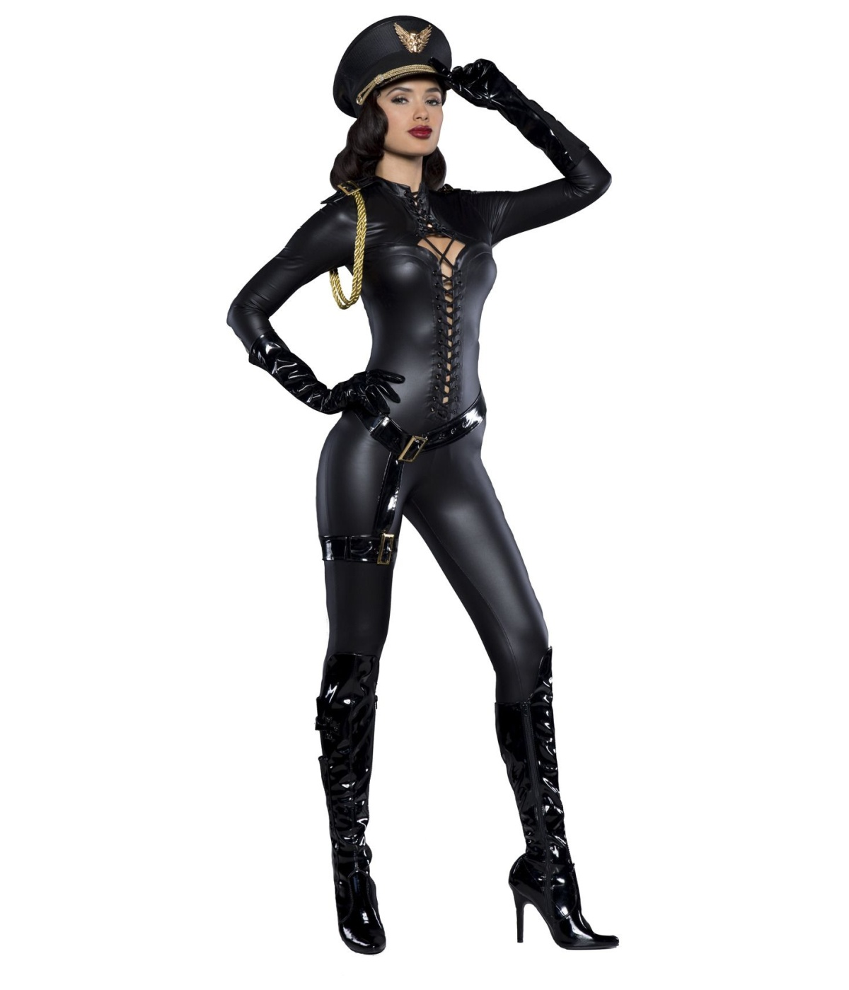 sc 1 st  Wonder Costumes & Major Lovin Sexy Catsuit Womens Costume