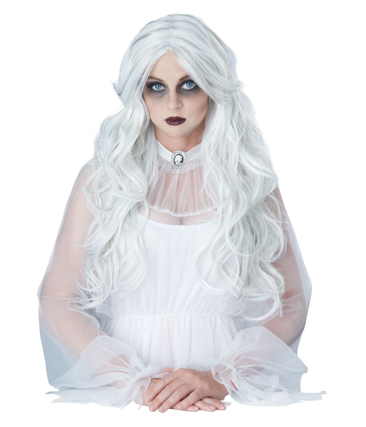 sc 1 st  Halloween Costumes & Supernatural Ghost Womens White Wig - Ghost Costumes