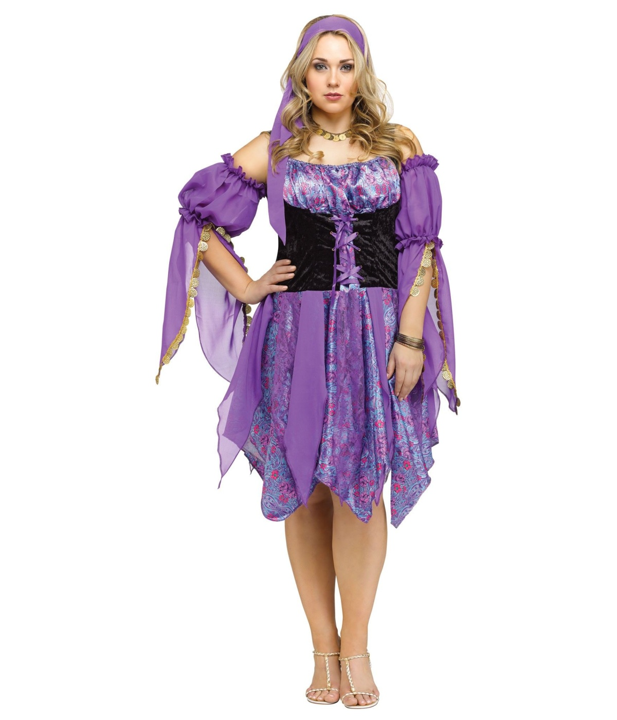 sc 1 st  Wonder Costumes & Gypsy Fortune Teller Womens Plus size Costume - Professional Costumes