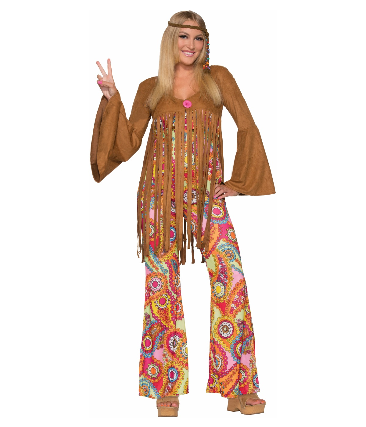 Womens Woodstock Sweetie Hippie Costume  sc 1 st  Wonder Costumes & Hippie Costumes - Men u0026 Women Hippie Halloween Costumes