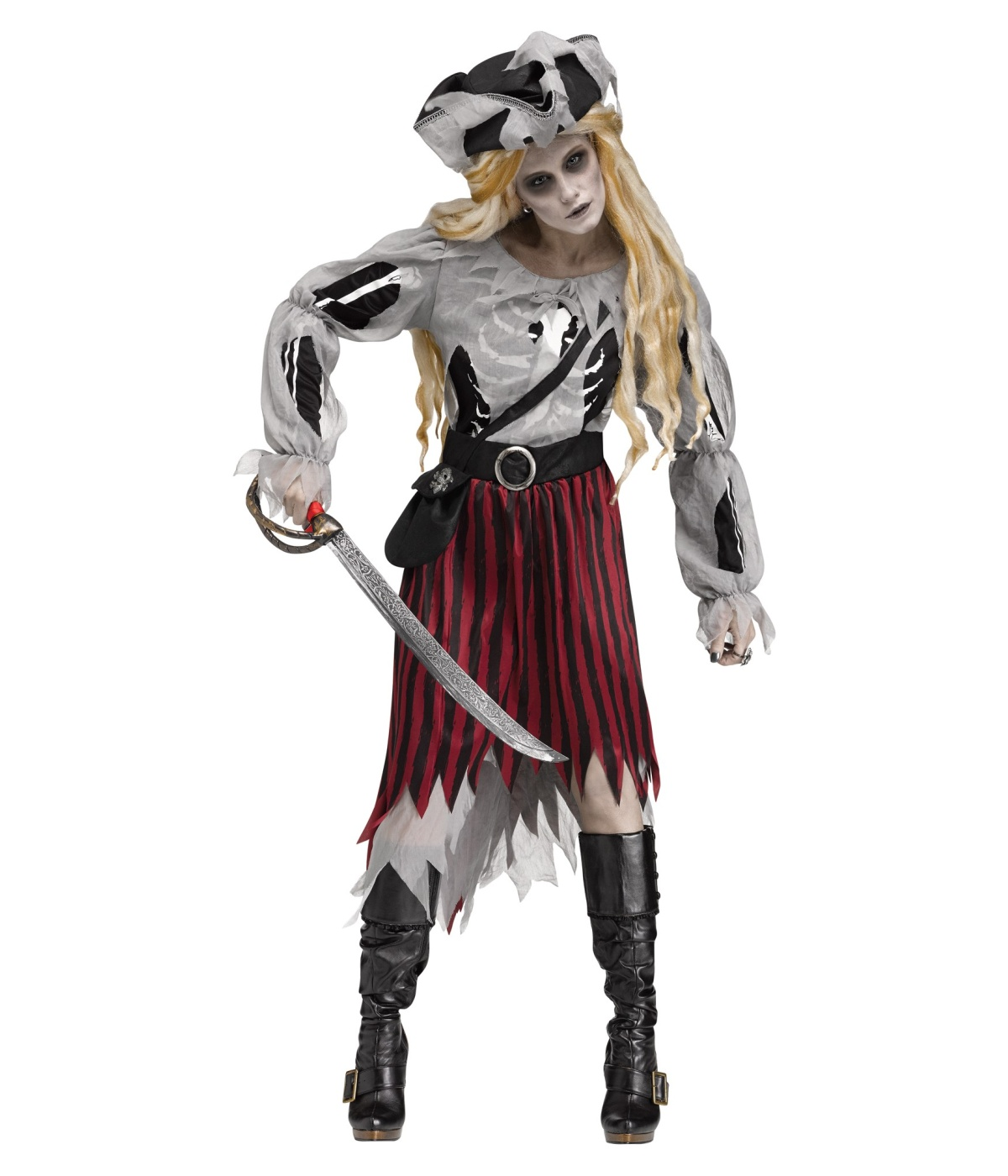 sc 1 st  Wonder Costumes & Zombie Pirate Ghost Womens Costume - Pirate Costumes