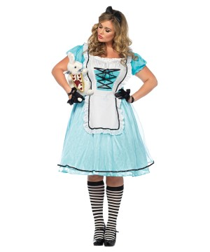 Alice Time plus size Women Costume  sc 1 st  Wonder Costumes & Alice Costumes - Luminous Alice in Wonderland Costumes