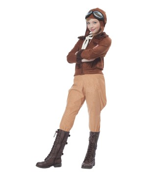 Amelia Earhart Aviator Girl Costume