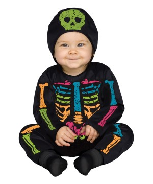 Baby Bones Skeleton Rainbow Color Costume