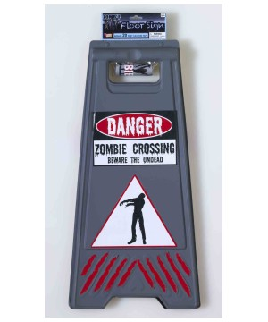 Beware Zombie Sign Decoration