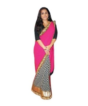 Bollywood Design Crepe Sari