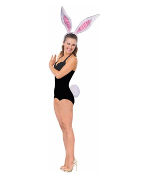 Bunny Jumbo Ears Women Costume Set