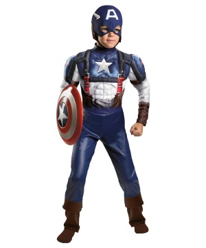 Captain America Avengers Boys Costume