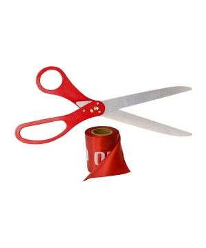 Ceremonial Scissors Ribbon Set Red