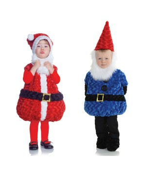 Christmas Gnome and Santa Claus Toddler Boys Costumes