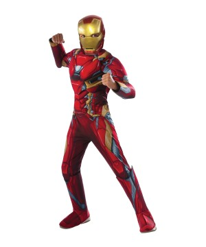 Civil War Iron Man deluxe Boys Costume