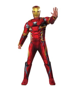 Civil War deluxe Iron Man Men Costume