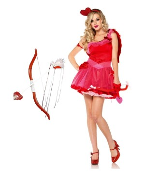 Cupid Women Costume and Bow and Arrow Set