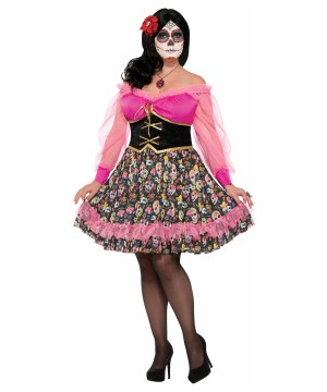 6b27fbe5a07 Day of the Dead Plus size Women Costume - Holiday Costumes